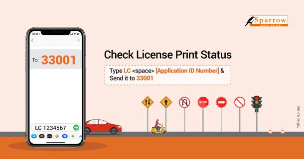 Driving license print status